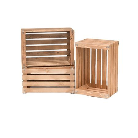 Wooden Crate - Natural