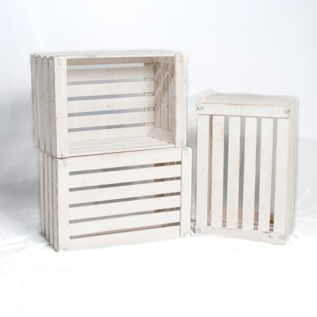 Wooden Crate - White
