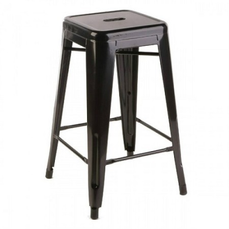 Bar chair - Tolix, black