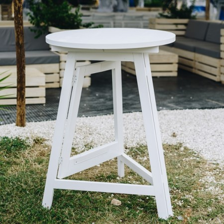 Bar table - White wood